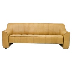 De Sede DS 44 3-Seat Sofa in Cognac Brown Neck Leather, Switzerland, 1970s