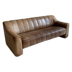 De Sede DS-44 Sofa in Patinated Cognac Buffalo Leather, Switzerland 1970