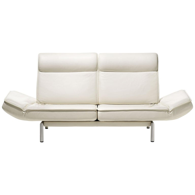 De Sede DS-450/02 Sofa in Off-White Upholstery by Thomas Althaus For Sale