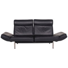De Sede Ds 450 Leather Sofa Blue Dark Blue Two-Seat Function Relax Function