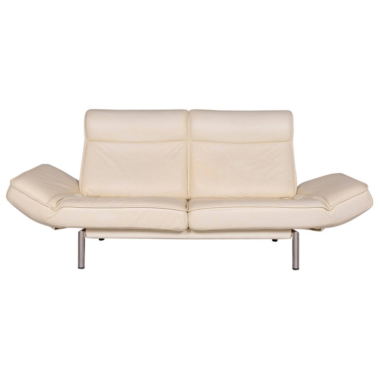 De Sede Ds 450 Leather Sofa Old White Cream Two-Seat Couch