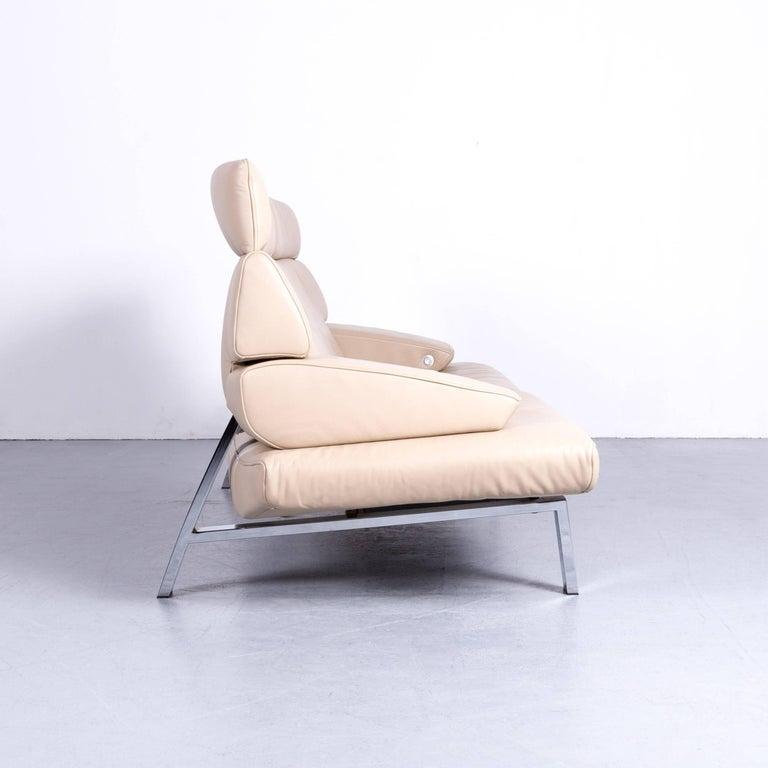 De Sede DS 451 Designer Sofa Leather Crème Beige Relax Function Two ...