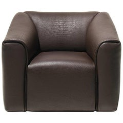 De Sede DS-47 Armchair in Brown Leather Upholstery by Antonella Scarpitta
