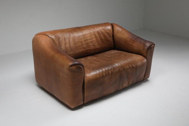 Swiss De Sede DS 47 Brown Leather Sofa
