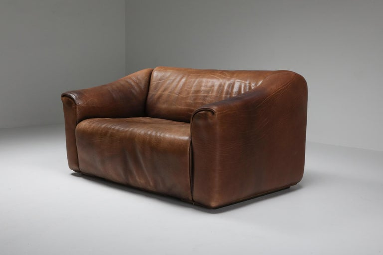 De Sede DS 47 Brown Leather Sofa In Excellent Condition In Antwerp, BE