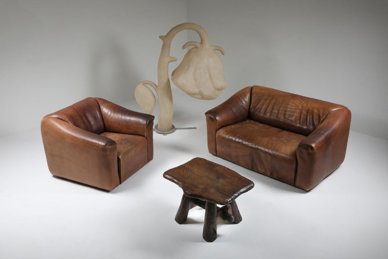 Late 20th Century De Sede DS 47 Brown Leather Sofa