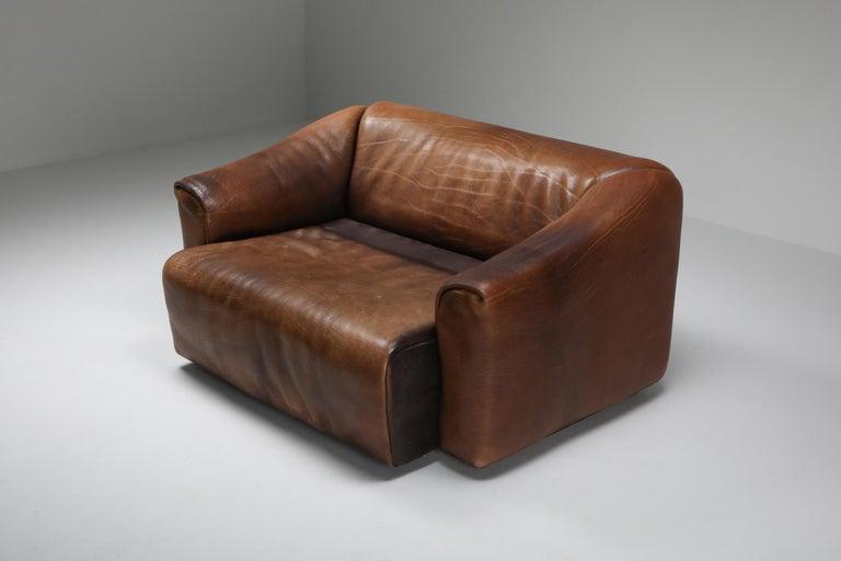 De Sede DS 47 Brown Leather Sofa 1