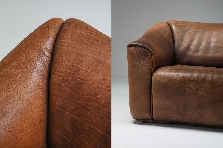 De Sede DS 47 Brown Leather Sofa 2