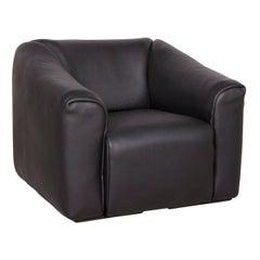De Sede ds 47 Designer Leather Armchair Black Genuine Leather