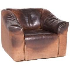 De Sede DS 47 Designer Leather Armchair Brown Genuine Leather Aniline