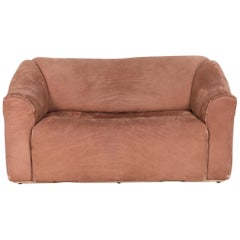de Sede DS 47 Designer Leather Sofa Brown Genuine Leather Two-Seat Couch
