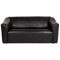 De Sede DS 47 Leather Sofa Black Two-Seat Couch
