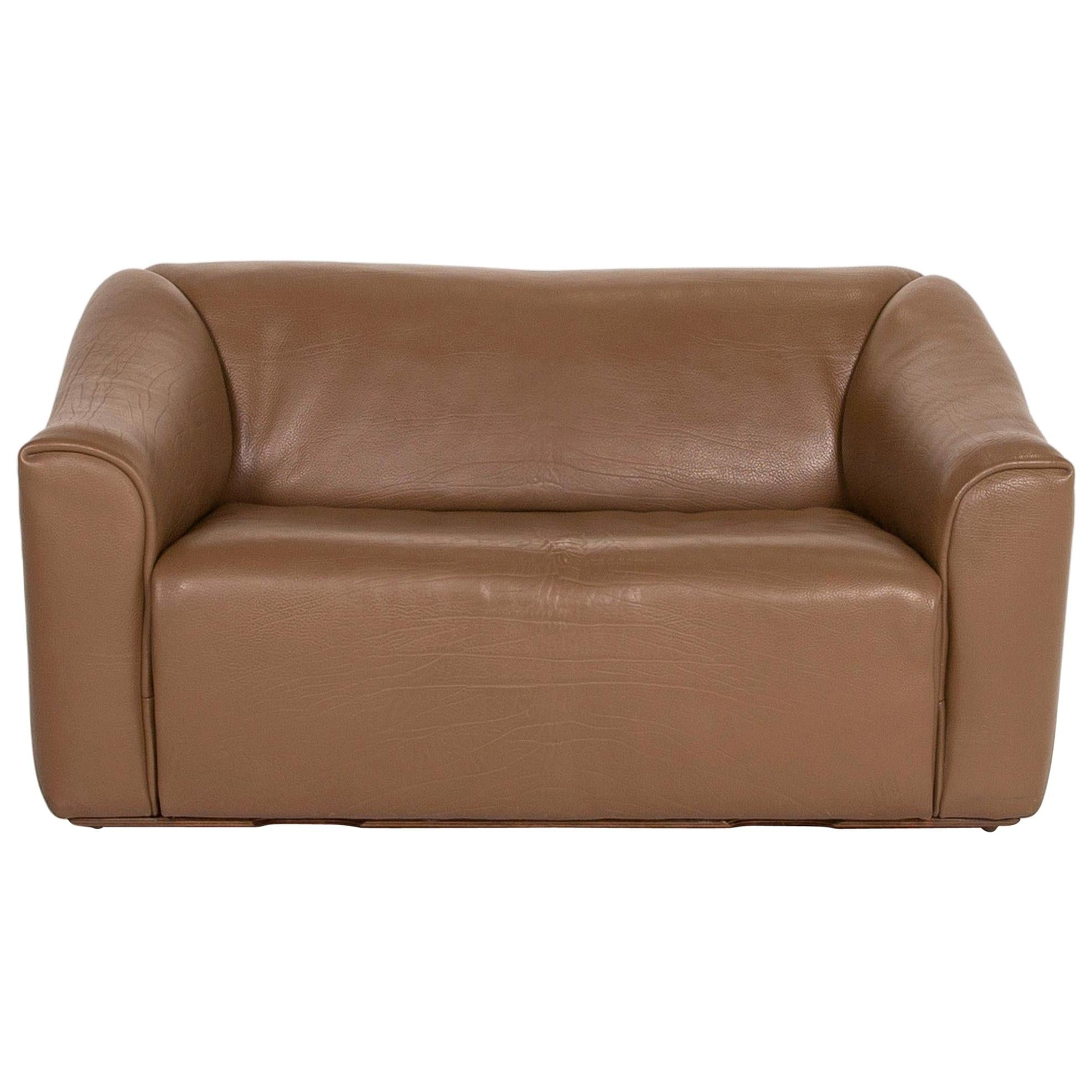 De Sede Ds 47 Leather Sofa Brown Two-Seat Function