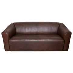 De Sede DS-47 Sofa Brown Buffalo Leather Switzerland 1970s