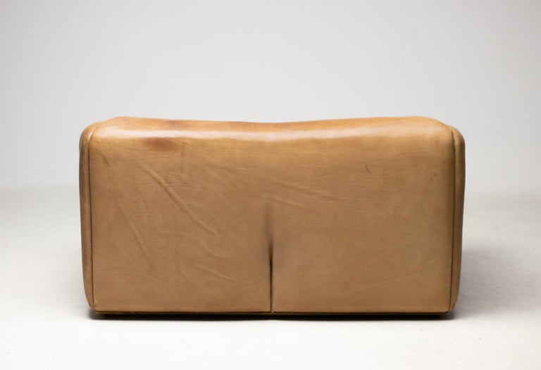 De Sede DS-47 Sofa in Brown Buffalo Leather For Sale 6