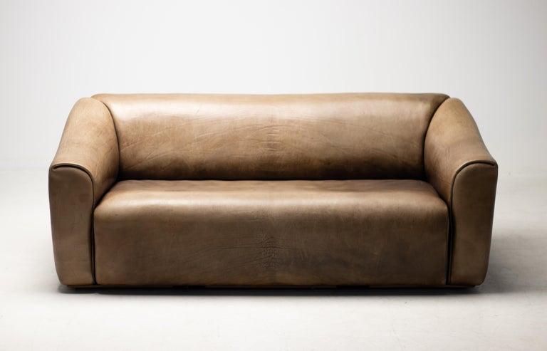 Mid-Century Modern De Sede DS-47 Sofa in Brown Buffalo Leather