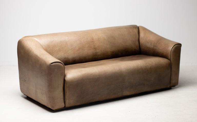 Swiss De Sede DS-47 Sofa in Brown Buffalo Leather