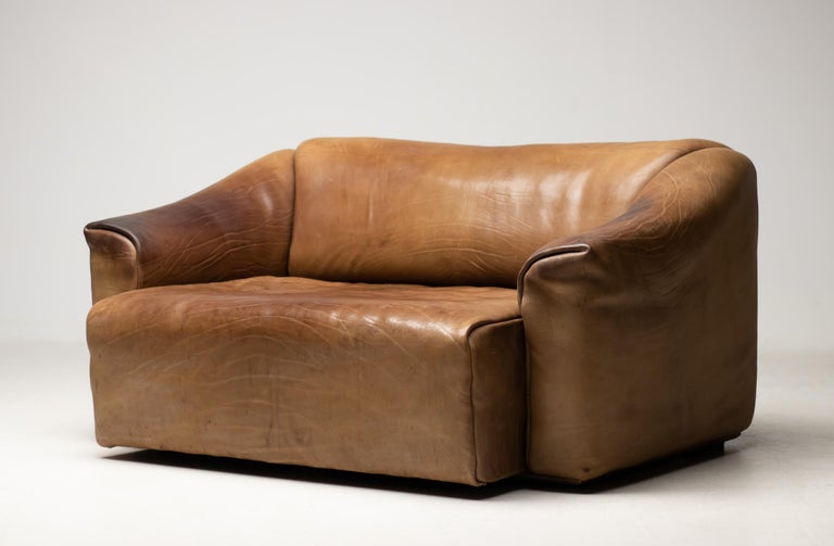 De Sede DS-47 Sofa in Brown Buffalo Leather In Good Condition For Sale In Dronten, NL