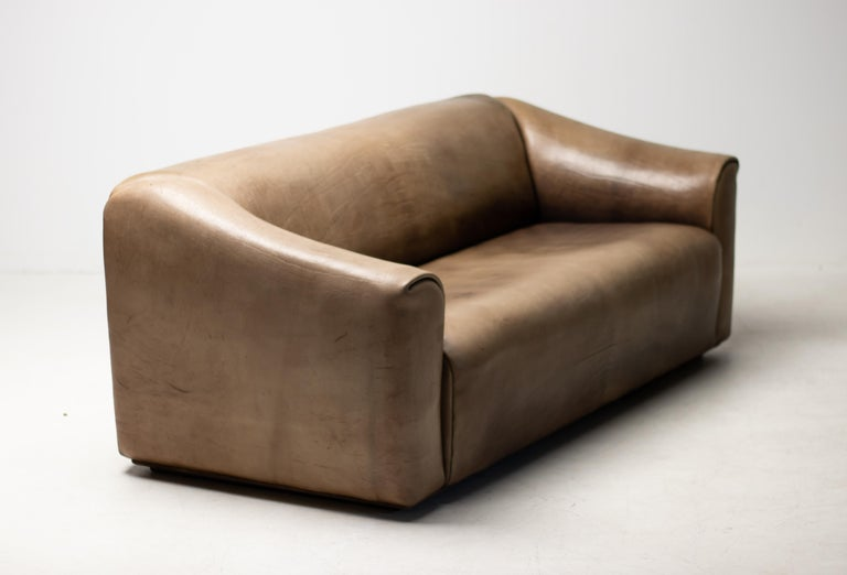 De Sede DS-47 Sofa in Brown Buffalo Leather In Good Condition In Dronten, NL
