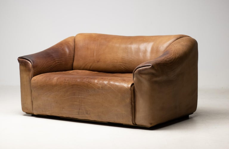 Late 20th Century De Sede DS-47 Sofa in Brown Buffalo Leather For Sale