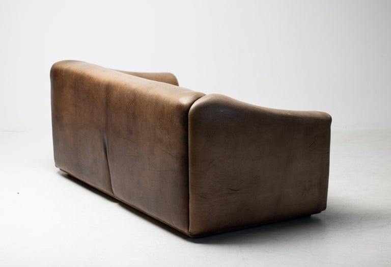 Late 20th Century De Sede DS-47 Sofa in Brown Buffalo Leather