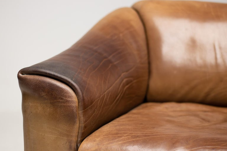 De Sede DS-47 Sofa in Brown Buffalo Leather For Sale 2