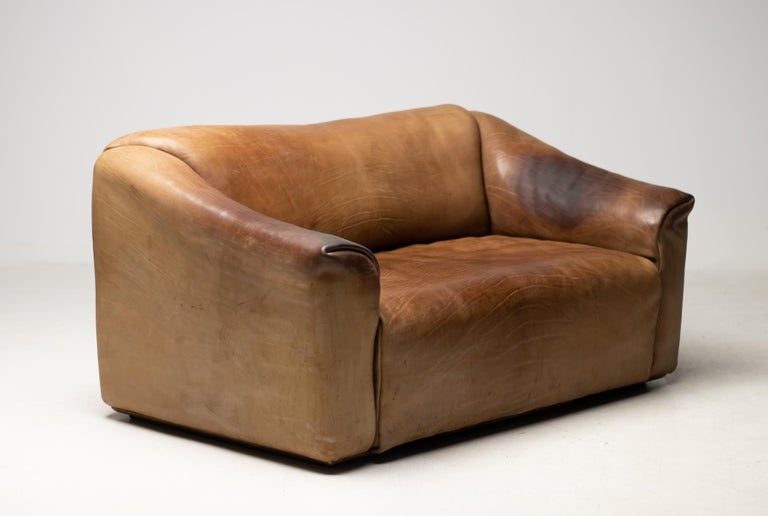 De Sede DS-47 Sofa in Brown Buffalo Leather For Sale 3