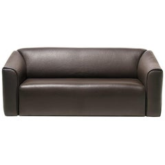 De Sede DS-47 Sofa in Brown Leather Upholstery by Antonella Scarpitta
