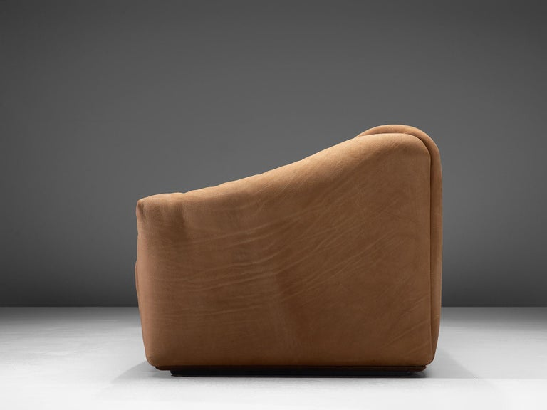 De Sede DS-47 Sofa in Cognac Leather In Good Condition For Sale In Waalwijk, NL
