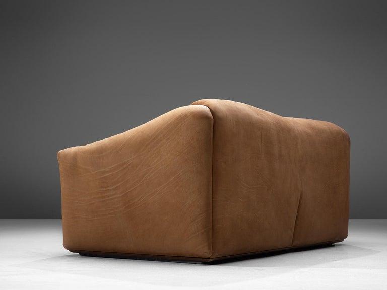 Mid-20th Century De Sede DS-47 Sofa in Cognac Leather For Sale