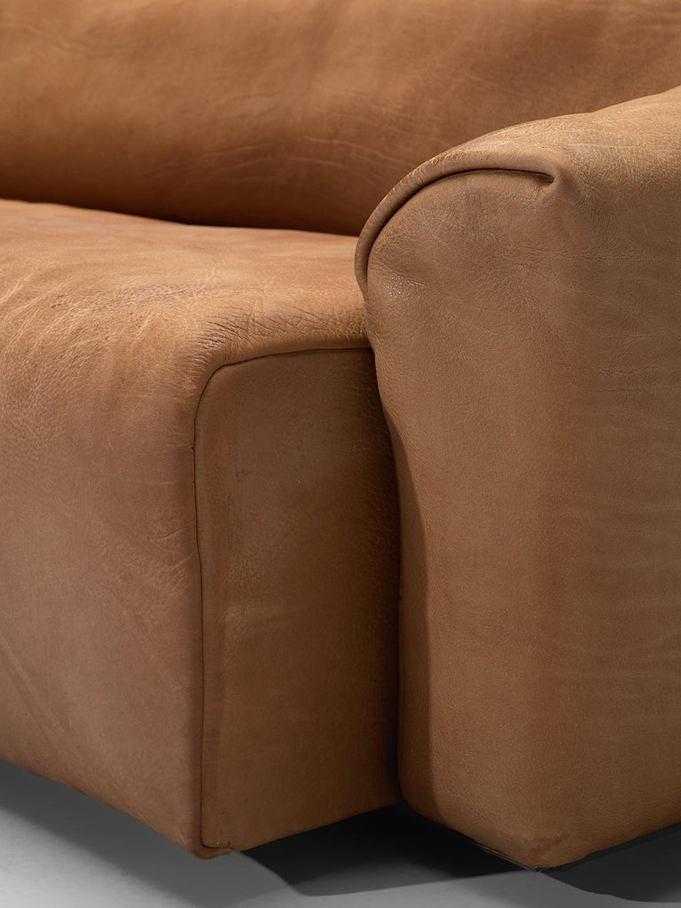 De Sede DS-47 Sofa in Cognac Leather For Sale 2
