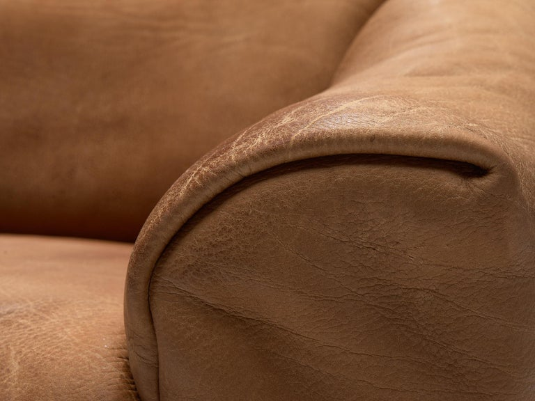 De Sede DS-47 Sofa in Cognac Leather For Sale 2