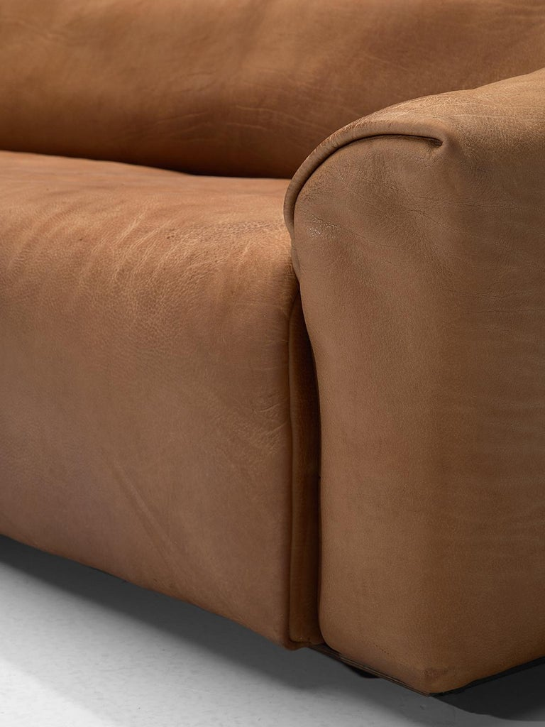 De Sede DS-47 Sofa in Cognac Leather For Sale 3
