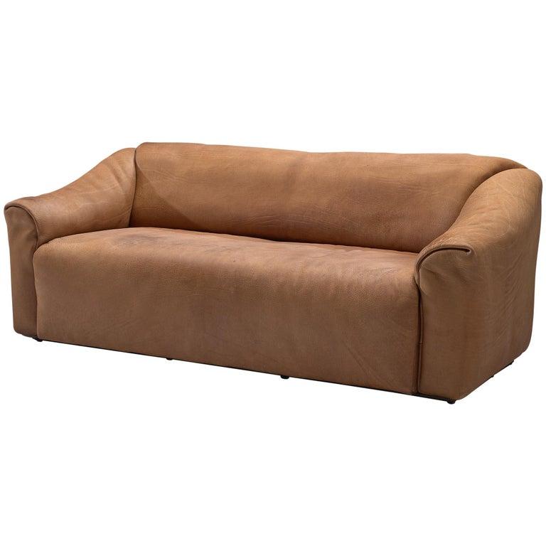 De Sede DS-47 Sofa in Cognac Leather For Sale