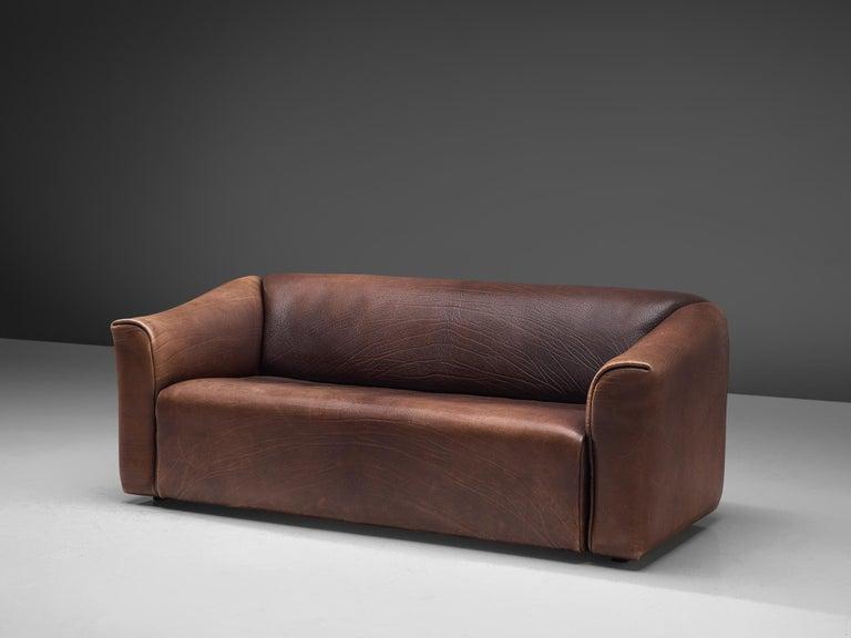 Mid-Century Modern De Sede DS-47 Sofa in Dark Brown Buffalo Leather