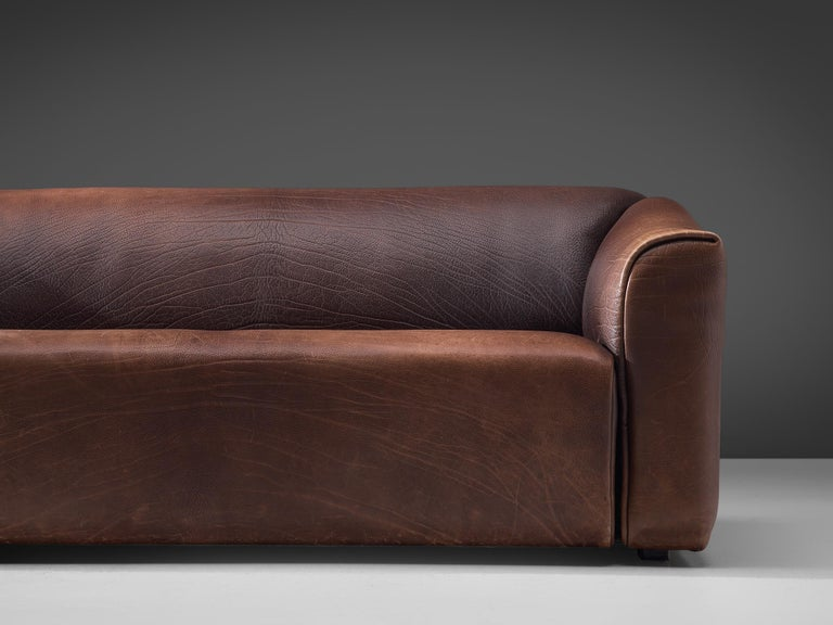Swiss De Sede DS-47 Sofa in Dark Brown Buffalo Leather