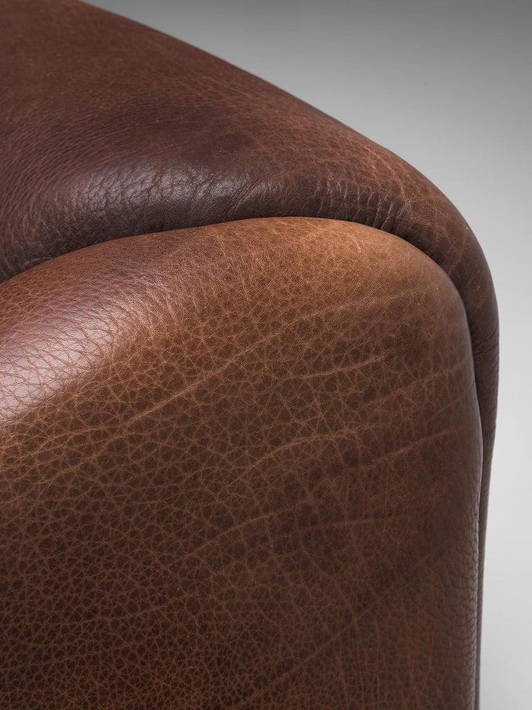 De Sede DS-47 Sofa in Dark Brown Buffalo Leather In Good Condition In Waalwijk, NL