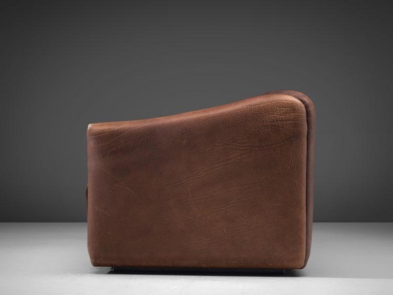 Late 20th Century De Sede DS-47 Sofa in Dark Brown Buffalo Leather