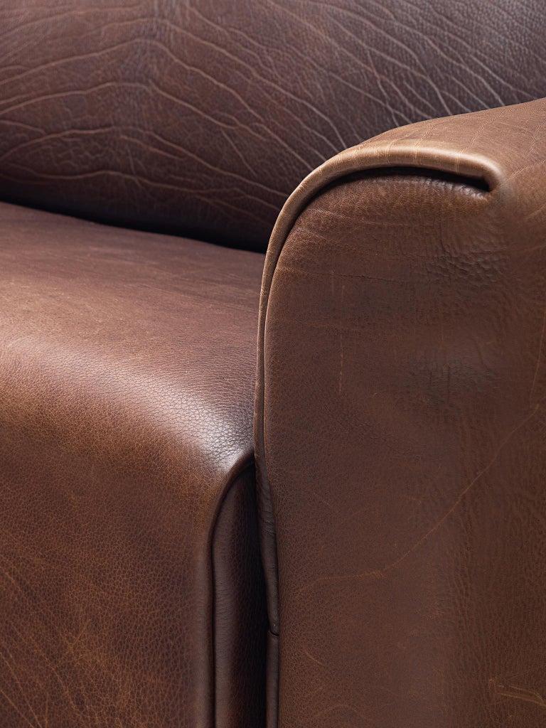 De Sede DS-47 Sofa in Dark Brown Buffalo Leather 3