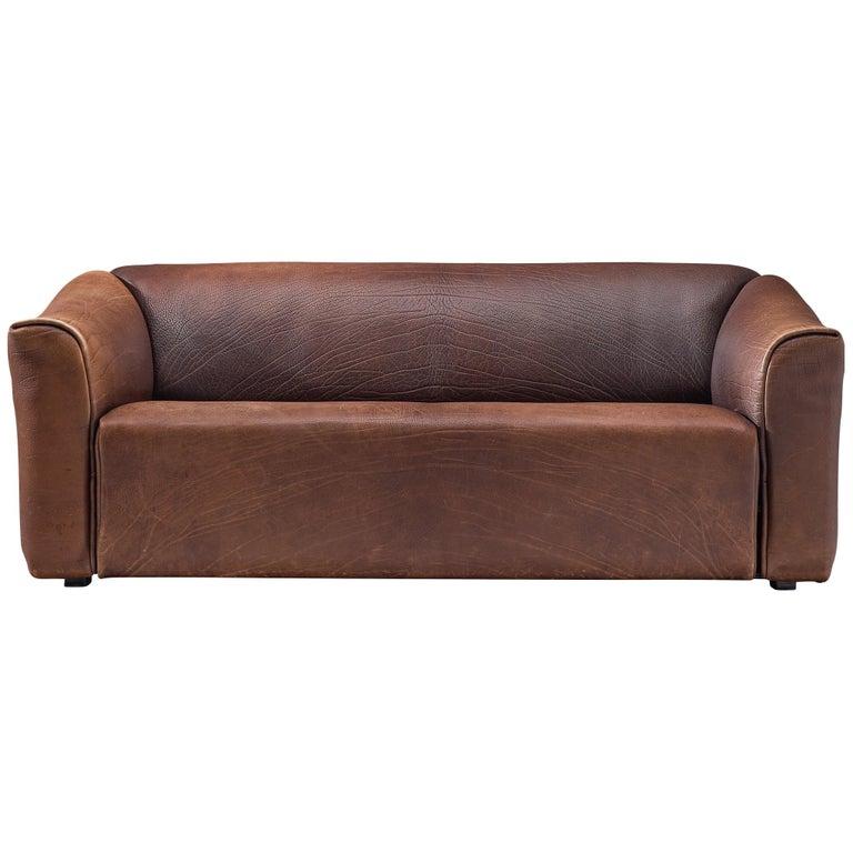 De Sede DS-47 Sofa in Dark Brown Buffalo Leather