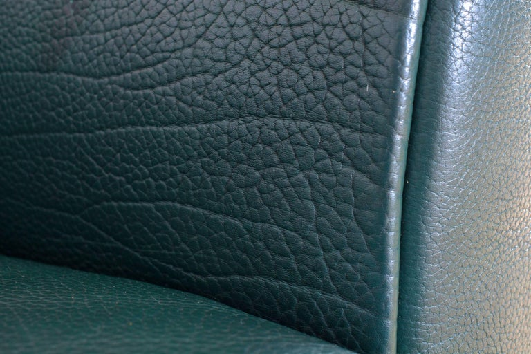 De Sede DS 47 Sofa in Petrol Green Leather For Sale 5