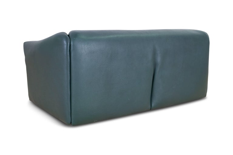 De Sede DS 47 Sofa in Petrol Green Leather In Excellent Condition For Sale In Antwerp, BE