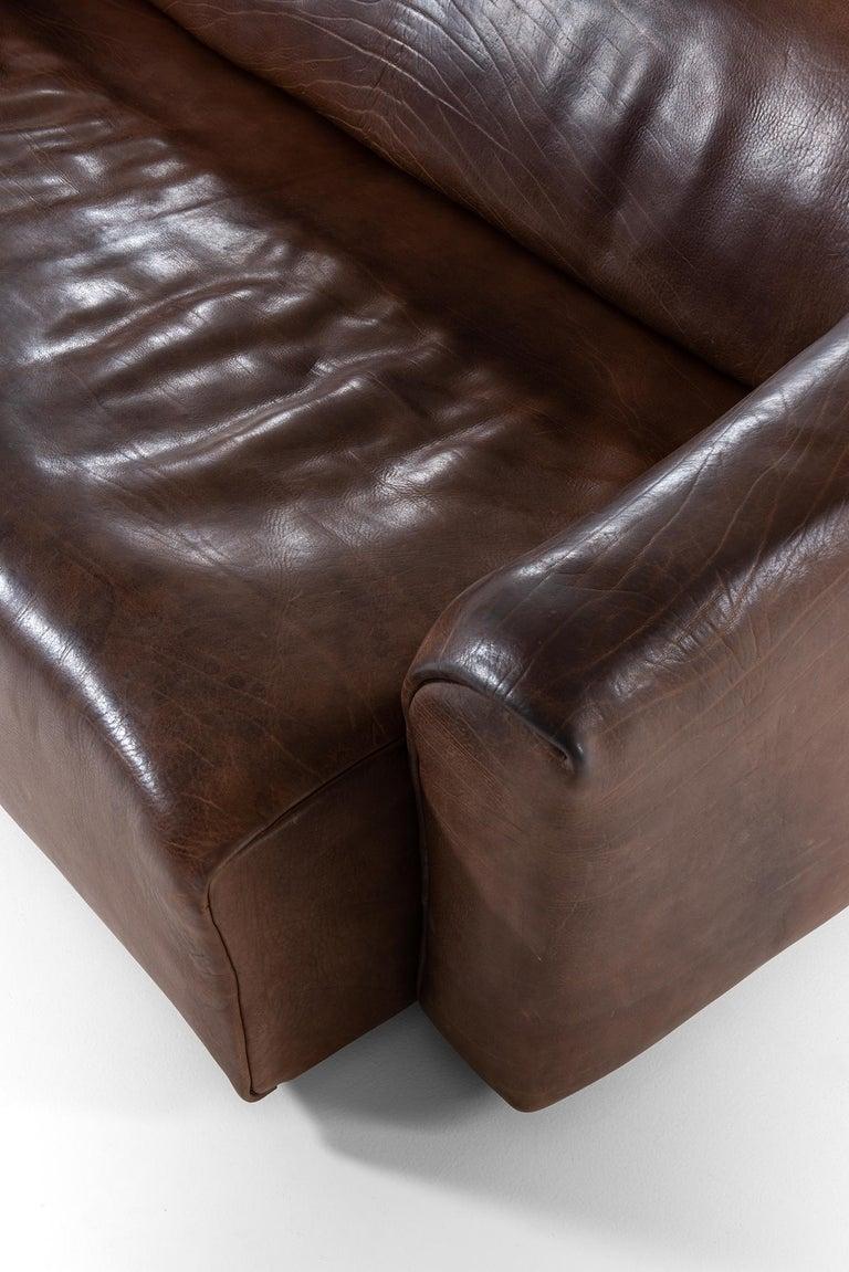 Leather De Sede DS-47 Sofa Produced by De Sede in Switzerland For Sale