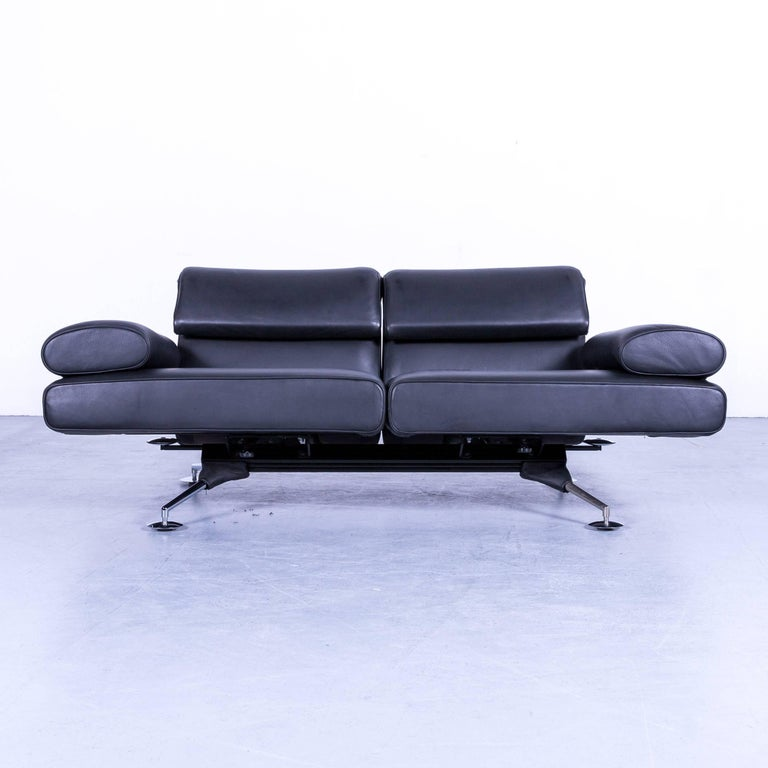 De sede ds 470 designer leather sofa black relax function for Sofa relaxfunktion