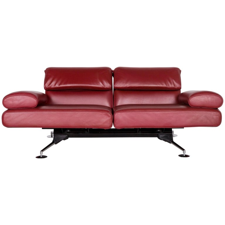 De Sede DS 470 Designer Leather Sofa Red Relax Function Couch ...