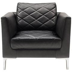 De Sede DS-48 Armchair in Black Upholstery by Antonella Scarpitta