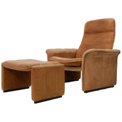 De Sede DS 50 Lounge Chair and Ottoman