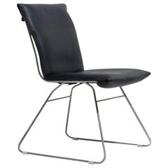 De Sede DS 515 Chair in Black Upholstery with Chrome Base by Greutmann Bolzern