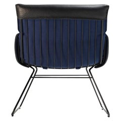De Sede DS 515 Lounge Chair in Black Fabric with Black Base by Greutmann Bolzern