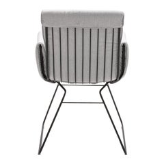 De Sede DS 515 Outdoor Chair in Grey Fabric with Black Base by Greutmann Bolzern